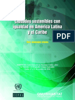 Ciudades Sostenibles Con Igualdades en America Latina y El Caribe