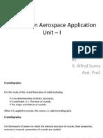 Unit I - Materials in Aerospace Applications