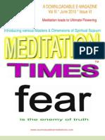 Meditation Times June 2010