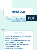 Football Maths Quiz