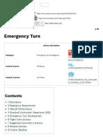 Emergency Turn - SKYbrary Aviation Safety