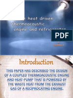 Waste Heat Driven Thermoacoustic Engine By Mr. HEBIN RAJ H