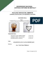 Informe Final- Agua Carbonatada