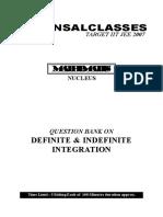 Definite & Indefinite Integration Q.B. WA