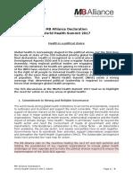 M8 Alliance Declaration 2017 Berlin