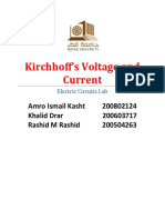 Kirchhoff's Voltage and Current