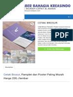 Daftar Harga Cetak Brosur Murah Di Jakarta Pusat