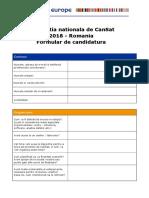 2018 Ro Cansat Formular de Inscriere