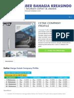 Daftar Harga Cetak Company Profile