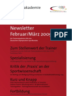 Trainerakademie Newsletter 2u3 2009