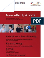 Trainerakademie Newsletter 04 2008