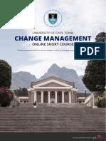 Uct Change Management Online Short Course Information Pack