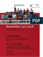 Trainerakademie Newsletter 06 2008