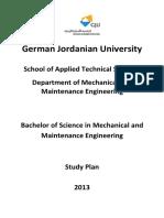 Mechatronics Engineering Study Program and Module Descriptions 0