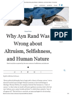 Why Ayn Rand Was Wrong About Altruism, Selfishness, And Human Nature - Evonomics