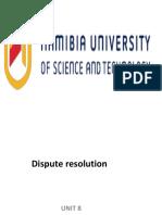 Dispute Resolution