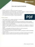 Requisitos de Apertura Cuenta Corriente Banco Caroni