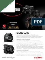 C200 Tech Sheet