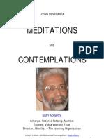 Living in Vedanta - Meditations