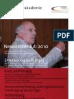 Trainerakademie Newsletter 07 2010
