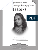 YSS Lessons Yogananda English Application Form