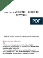 Indicații Medicale Pe Grupe de Afecțiuni