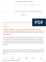 Understanding Project Timeframe for SCADA Implementation