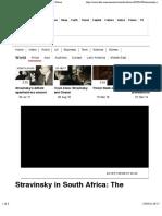 Stravinsky's Defiant Apartheid-era Concert - BBC News