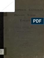 A Topographical Catalogue of the Private Tombs of Thebes - Alan H. Gardiner 1913 a.O
