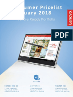 Lenovo Price List Jan 2018
