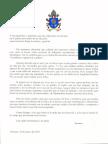 Carta del Papa a los Argentinos