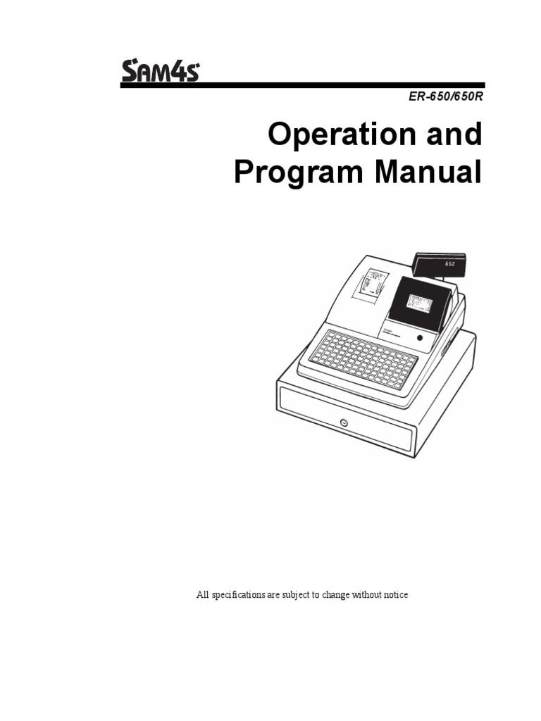 Manual de Usuario y Programacion de La Caja Registradora