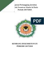 Laporan Pertanggung Jawaban ponpes 2017