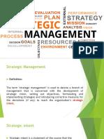 Strategic Plan Refinement