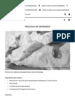 PAVLOVA de MORANGO _ Portal Da Diálise - Insuficiência Renal Crónica