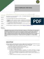 Guía Certificación LEED Homes ESP