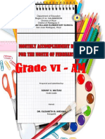 Accmplishment Report Grade Six Am Feb