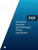 Aus Awards Scholarships Policy Handbook