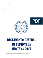 Reglamento General de Montana 2017