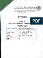 PRTC - First Preboard - Taxation