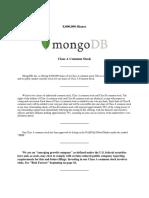 MongoDB Prospectus