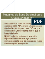 LEITURA 3 - Sistemas de Numeracao Conversao Bases