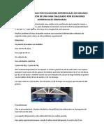 Defelexion de Vigas Por Ecuaciones Diferenciales de Segundo Orden en Un Puente