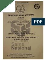 Soal Osn Sd Ipa 2017 Tingkat Provinsi