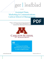 Position Profile - CSOM - UMN - Assistant Dean, Marketing and Communications
