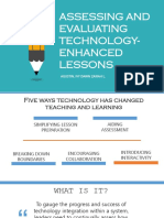 Assessment-Evaluation of Tech-Enhanced Lessons