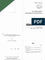 Marcuse, Herbert - Materialismo Histórico e Existência