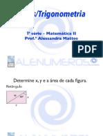 Slides Áreas/Trigonometria- 1ª série- PDF