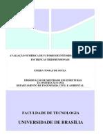 TOMAZ, 2013 - Avaliação Numérica de FIT Em Trincas Tridimensionais