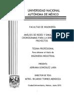Análisis de Redes y Simulación en Cronogramas Para La Dirección de Proyectos
